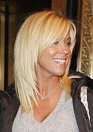 Afbeeldingsresultaat voor halflang blond haar in laagjes