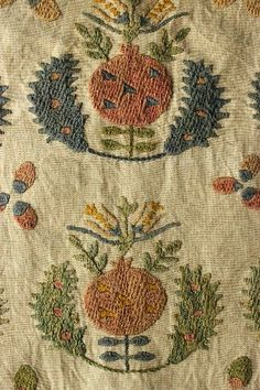Late-Ottoman embroidery, c. 19th century.  With pomegranate motif.