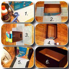 How I used a diaper box to make a storage bin...See my tutorial!