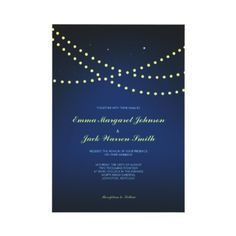 From Lucy: LIGHTED NIGHT - Wedding Invite by Fromlucywithlove