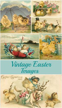 Free vintage Easter images, including ideas on how to use these printable graphics in your spring home decor and craft projects.