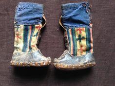 antique tibetan child boots. rare and inexpensive.