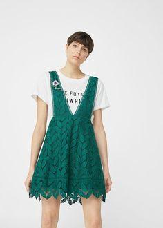 Jewel guipure dress -  Women   MANGO USA