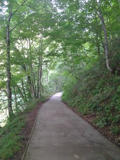 Mountain path up to blue lake