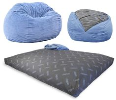 A Full-Size Bed That Pulls Out Of A Bean Bag Chair                                                                                                                                                                                 More