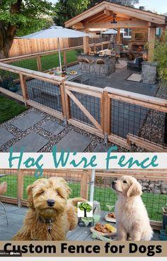 Outdoor Dog Area, Backyard Dog Area, Backyard Fences, Backyard Projects, Outdoor Projects, Backyard Landscaping, Front Yard Fence Ideas, Patio Fence, Farm Fence