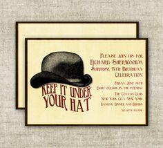 SURPRISE BIRTHDAY PARTY Invitations Vintage by CardtopiaDesigns, $13.50