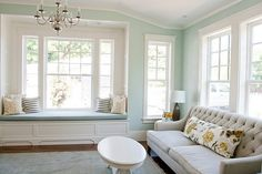 Love the window seat, and the paint color, and the window...happy room!