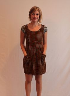 d3e507dec6f Handmade Teal Corduroy 70 s Jumper Dress   Floral Print Corduroy   Pockets    Handmade   Vintage