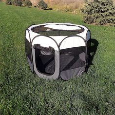 The Pawslife Portable Dog Pen is easy to set up and store. With its breathable mesh sides and water-resistant bottom, it provides an ideal place for your pet to relax in indoor or outdoors. The zippered top and sides make it easy to let your dog out. Portable Dog Pen, Dog Commands Training, New Puppy, Dog Stuff, Fine China, Bedding Shop, Pet Care, Your Pet, Relax