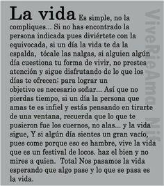 la vida es simple