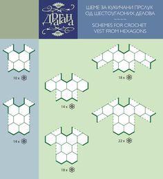 Crochet Hexagon Motifs Diagrams. For a Jumper. http://i1.wp.com/craftbay.files.wordpress.com/2013/06/3-5.png