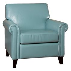 small leather club chair  | ClubChairs > Leather Club Chairs > Modern Leather Club Chairs > Teal ...