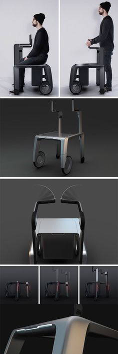 """Unlike """"medical"""" looking walkers the PROSUS takes inspiration from both sport bikes and modern furniture, applying the same sleek design language to the walker."""