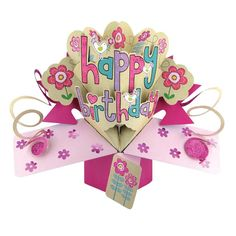 Celebrate the next birthday in style by sending this Happy Birthday Female Pop-Up Card. The design of this card means that it will pop up when opened by the birthday girl. Birthday Card Pop Up, Happy Birthday Cards, Birthday Wishes, Birthday Greetings For Women, Pop Up Greeting Cards, Pop Up Cards, Happy Birthday Woman, Motifs Roses, Sister Gifts