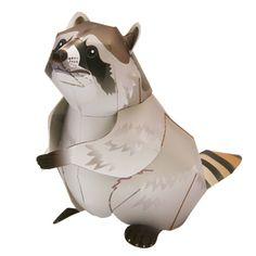 Mapache - Otros animales - Animales - Arte de papel - Canon CREATIVE PARK