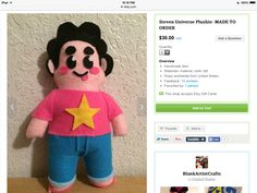 Get Steven on my etsy  .I make all of the them on that account   -Blank Artist Craft's     https://www.etsy.com/shop/BlankArtistCrafts?ref=hdr_shop_menu