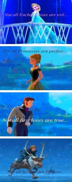 "Disney made an awkward ""prince"" and princess. A queen who wasn't evil. And a first love was broken and not real."
