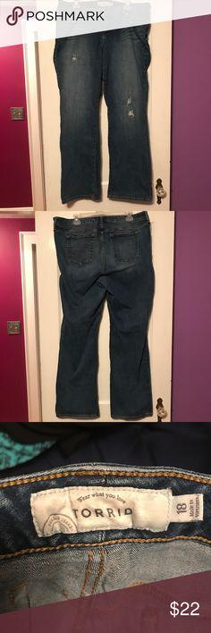 Torrid boot cut jeans Torrid Boot Cut Jeans. Sz 18 98% cotton,  2% spandex torrid Jeans Boot Cut