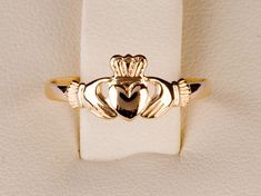 9ct Red Gold Baby Claddagh Ring by TheIrishJeweller on Etsy, $80.00
