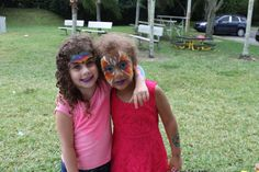 Best Friends excited about their Face Painting done by Best Party Planner!