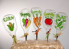 Vegetable Garden Stakes hand painted on by WindwardGiftShop, $12.00