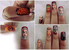 Lord of the ring nail art by smamz @asantana1122