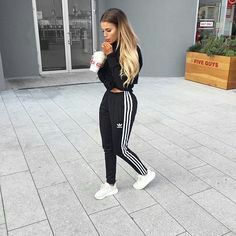 Description Item Type: Sneakers Insole Material: Rubber vamp Material: Mesh Cloth Color: Grey*Pink* Beige Source by ksrmigle and roshes outfit Chill Outfits, Sporty Outfits, Mode Outfits, Trendy Outfits, Fashion Outfits, Fashion Trends, Adidas Joggers Outfit, Jogger Outfit, Adidas Pants