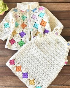 Crochet Baby Blanket Tutorial, Crochet Baby Dress Pattern, Baby Girl Crochet, Newborn Crochet, Crochet For Kids, Crochet Baby Sweaters, Crochet Baby Cardigan, Crochet Baby Clothes, Knit Crochet