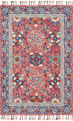 Loloi Zharah Zr 03 Rose Denim Area Rug Incredible Rugs And Decor
