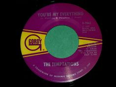 "NOS Unplayed! THE TEMPTATIONS ""You're My Everything"" 45 @ 1967 Soul FUNK : Gordy #ClassicRB"
