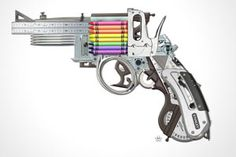 The Creative Gun by Mark Fitz    | A Thursday in July calls for something a bit fun, a moment of summertime ease if you will. We just came across The Creative Gun by Mark Fitz and thought this could be a nice image for everyone to pass around. Good work from the Dublin, Ireland artist.