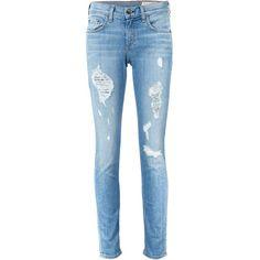 Rag & Bone 'Dre' jeans (450 CAD) ❤ liked on Polyvore featuring jeans, blue, blue jeans and rag bone jeans