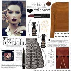 fall beauty: red lipstick. <3 by tatjana on Polyvore featuring мода, TIBI, Rumour London, Zimmermann, Mansur Gavriel, Christian Dior, NARS Cosmetics and Eyeko