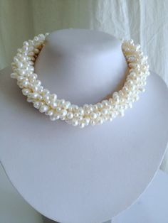 Vintage Princess Freshwater Pearl Cluster Estate Jewelry Necklace by WOWTHATSBEAUTIFUL