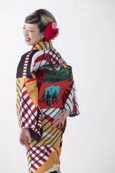 京都 モダンアンテナ工房日記 -4ページ目 Traditional Kimono, Traditional Dresses, Japanese Kimono, Japanese Style, Modern Kimono, Summer Kimono, Kimono Pattern, Tribal Dress, Wedding Costumes