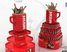 Coca Cola Model Shop with Complete Branding on Behance Pallet Display, Pop Display, Display Design, Store Design, Coca Cola Promo, Coffee Shop Counter, Grafic Art, Pos Design, Pop Up Market