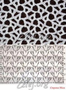 New crochet shawl pattern diagram haken 26 ideas Crochet Squares, Crochet Motifs, Crochet Diagram, Crochet Stitches Patterns, Freeform Crochet, Crochet Chart, Irish Crochet, Knitting Stitches, Knitting Patterns