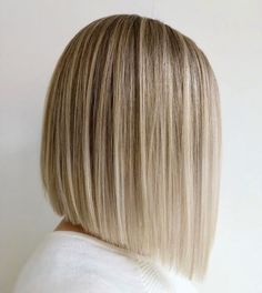 Short Hairstyle Angled Bob Cut - Short hairstyle with the straight angled look. Don't forget your Voluflex hairbrush for healthy style. Made in USA! Blonde Hair Looks, Brown Blonde Hair, Black Hair, Medium Hair Styles, Short Hair Styles, Asymmetrical Bob Haircuts, Bobs For Thin Hair, Bob Hairstyles For Fine Hair, Hairstyle Short