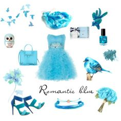 """""""Romantic blue"""" by annawirejewelry on Polyvore Blue Fashion, Romantic, Polyvore, Romantic Things, Romance, Romances"""