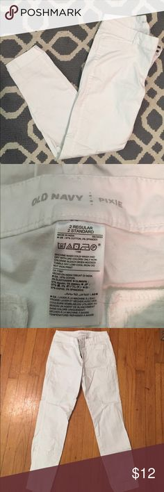 Old Navy White Pixie Pants Pixie pants Old Navy Pants