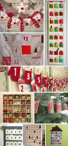 mitten advent calendar garland and other fun ideas  http://talkcraftytome.com/