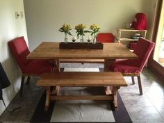 Fancy X Farmhouse Table And Benches