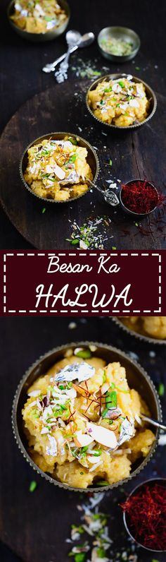 Besan Ka Halwa. A chickpea flour pudding which is quick and simple to make. Food Photography and styling by Neha Mathur.