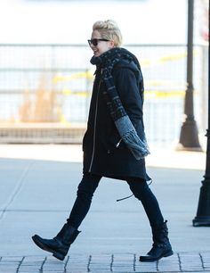 Michelle Williams in the Moto Boot & Lisbeth Scarf