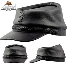 Leather Hats, Leather Men, Leather Jackets, Jeans Levi's, Jean Straight, Cool Hats, Mode Vintage, Leather Working, Hats For Men