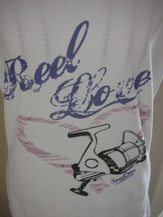 Sport Chic Reel Love Fishing Designer T Shirt by TheSportChic, $30.00