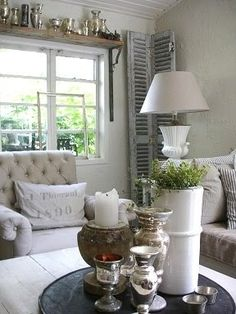 Living room ideas - love the soft colors in this room
