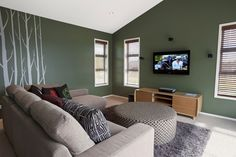 Separate lounge with bold colour choice