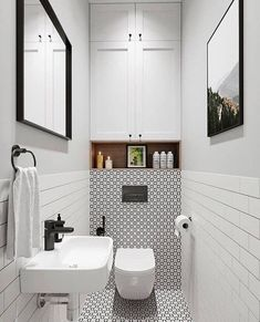Location and gives extra storage space at the same time that helps to capture a spacious with a small bathroom decorating ideas . Small Toilet Design, Bathroom Layout, Modern Bathroom Design, Bathroom Interior Design, Bathroom Ideas, Small Downstairs Toilet, Small Toilet Room, Small Bathroom, Condo Bathroom